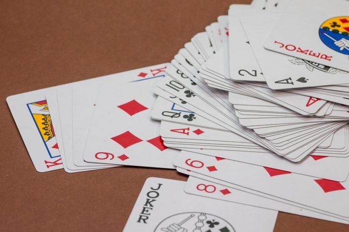シャッフルされたカード