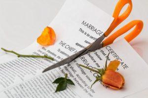 切られる手紙と花